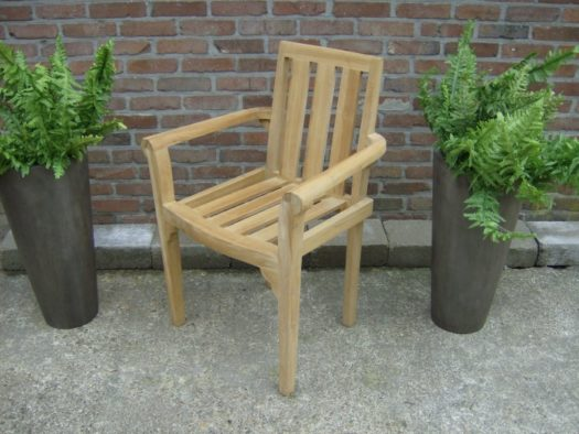 Teak Stapelstoel Kingston