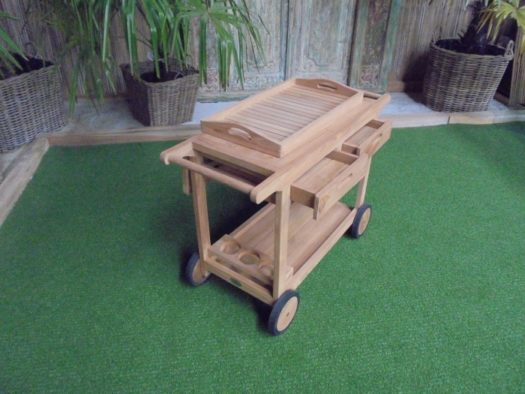 Teak Multi Trolley