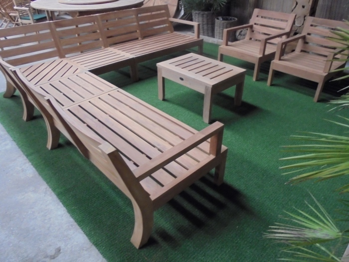 Luxe Teak Loungeset Solo Large